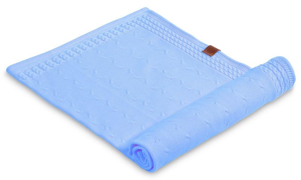d958f1b160 Finomkötött takaró – kék – Mamilla bababolt