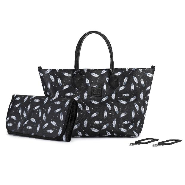 Kinderkraft pelenkázó táska fekete