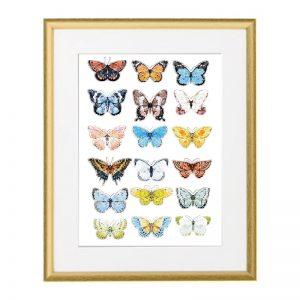 kép gyerekszobába - pillangók