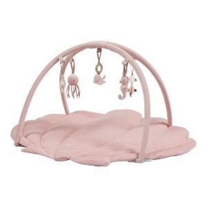 Little Dutch játszószőnyeg játékhíddal tengeri állatos pink