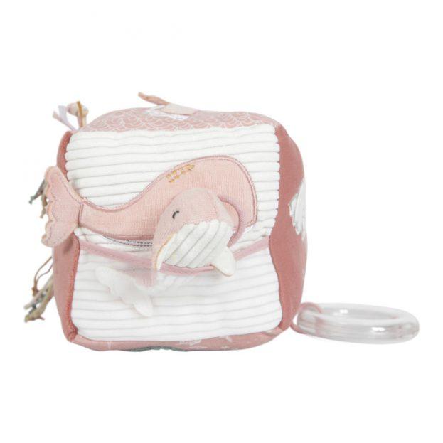 Little Dutch plüss készségfejlesztő kocka -tengeri állatok pink