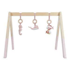Babatornáztató játék - tengeri állatos pink